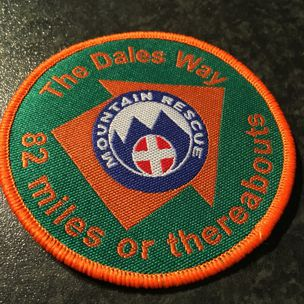 Dales Way charity cloth badge